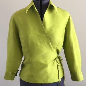 NwT!! Ice 100% silk wrap blouse